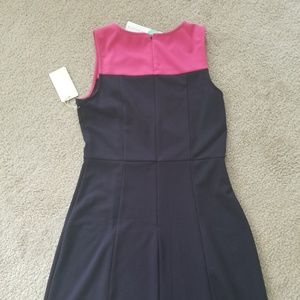 41 Hawthorn Dresses - Pink and Navy Sheath Dress